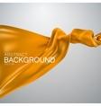 Orange silk fabric vector image