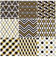 Seamless gold geometric pattern vector image