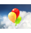 Toy balloons in the clouds vector image