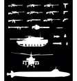 Weapons set vector image