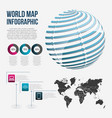 world map infographic chart communication globe vector image
