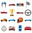 Race icons set cartoon style vector image