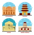 Court of law and religion temple pagoda vector image