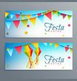 festa junina brazil festival banners vector image