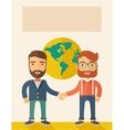 Succesful businessmen vector image