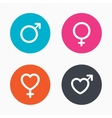 Male and female sex icons Man Woman signs vector image