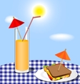 glass and sandwich vector image vector image