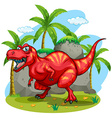 T-Rex standing on grass vector image vector image