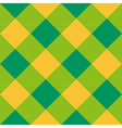 Yellow Green Diamond Chessboard Background vector image