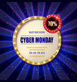 cyber monday sale sign template vector image