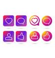 Gradient icon social network vector image