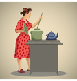 Housewife vector image