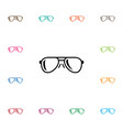 isolated eye accessory icon eye-wear vector image