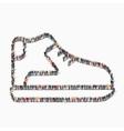 people shape shoe clothing icon vector image