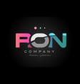 Ron r o n three letter logo icon design vector image