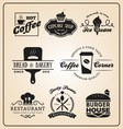 Set of food and drink badges logo vector image