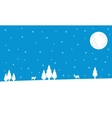 Winter deer and spruce Christmas landscape vector image