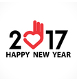 201 and 7 and heart hand sign vector image