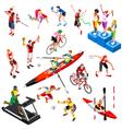 Sport Isometric Sportsmen Set Olympic Game vector image vector image