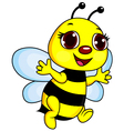 Cute Funny Bee Cartoon vector image vector image