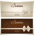 Gorgeous gift cards with white bows and copy space vector image vector image