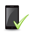 Phone Check vector image vector image