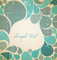 water abstract retro background vector image vector image