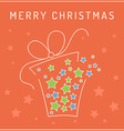Christmas card gift vector image vector image