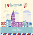 I love London vector image