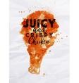 Poster crispy chicken vector image