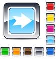 forward arrow square button vector image