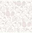 hand drawn cartoon fruits seamless pattern vector image