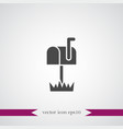 mail box icon simple vector image