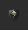 Secure check mark shield icon vector image