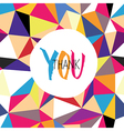 thank you colorful new vector image