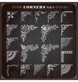Vintage Corners And Borders Set 3 vector image