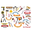 Work tools icons Repair construction signs set vector image