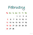 february 2017 vector image