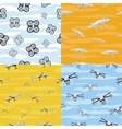 Seamless Pattern Drone Icon Flying in Sky vector image