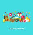 celebrate easter greeting card vector image
