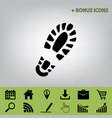 footprint boot sign  black icon at gray vector image