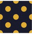 seamless polka dots textured pattern vector image vector image