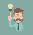 Businessman get idea vector image