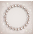 Shiny pearl necklace vector image