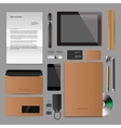 Corporate identity mock-up classic style vector image