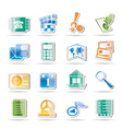 phone and computer icons vector image