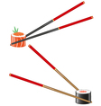 sushi and chopsticks vector image