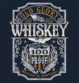Vintage Americana Whiskey Label T-shirt Graphic vector image vector image