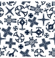 Ancient blue crosses seamless pattern vector image vector image