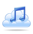 Cloud music vector image